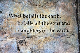 What befalls the earth quote
